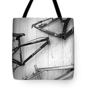 Well Worn Mountain Bike Frames  Tote Bag by Gray  Artus