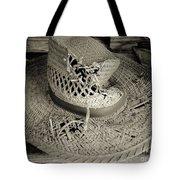 Well Worn Sepia Tote Bag