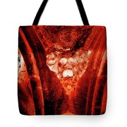 Wells Cathedral Gargoyles Color Negative A Tote Bag