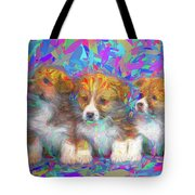 Welsh Corgi Pups Tote Bag
