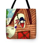 We're Late For Dinner Goose Tote Bag