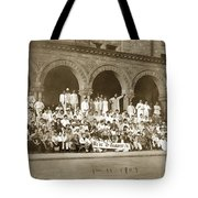We're Up Against It,students On Steeps Of Encina Hall At Stanford University April 18,1907 Tote Bag