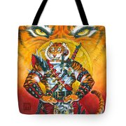 Werecat Warrior Tote Bag