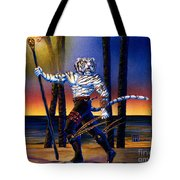 Werecat With Torch Tote Bag
