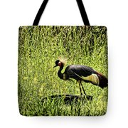 West African Crowned Crane Tote Bag