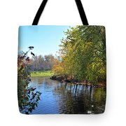 West Branch Iowa River Tote Bag