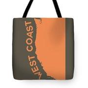 West Coast Pop Art - Crusta Orange On Judge Grey Brown Tote Bag