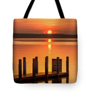 West Dnr Boat Launch July Sunrise Tote Bag