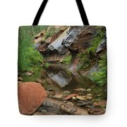 West Fork Trail River And Rock Vertical Tote Bag
