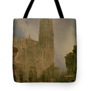 West Front Of Notre Dame Tote Bag