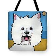 West Highland Terrier Tote Bag by Leanne Wilkes