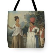 West Indian Women Of Color, With A Child And Black Servant Tote Bag