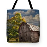 West Michigan Barn In Autumn Tote Bag
