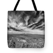 West Of Crater Lake B W Tote Bag
