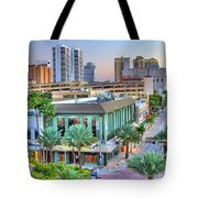 West Palm At Twilight Tote Bag