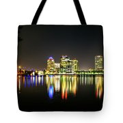 West Palm Beach Downtown Panoramic Tote Bag