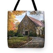 West Parish Chapel In Fall, Andover, Ma Tote Bag