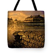 West Pier Splash Tote Bag