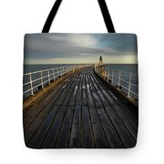 West Pier, Whitby, England Tote Bag