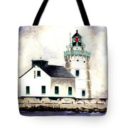 West Pierhead Lighthouse Tote Bag