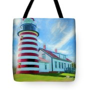 West Quaddy Head Lighthouse Tote Bag