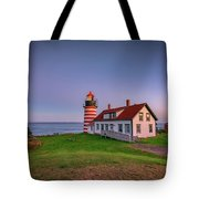 West Quoddy Head Light At Dusk Tote Bag