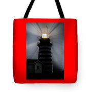 West Quoddy Head Lighthouse Aglow In Silhouette Tote Bag