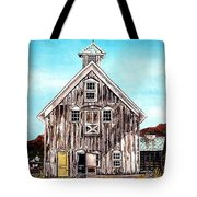 West Road Barn - All Rights Reserved Tote Bag
