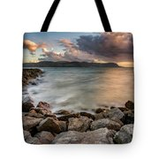 West Shore Sunset Tote Bag