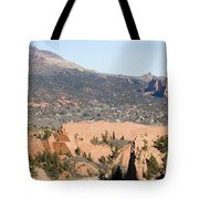 West Springs And Distant Garden Of The Gods Tote Bag