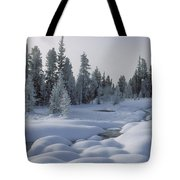 West Thumb Snow Pillows Tote Bag