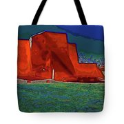West View Of Church In Ranchos Tote Bag