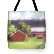 West View Of The Meyer Ranch Tote Bag