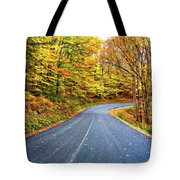 West Virginia Curves - In A Yellow Wood - Paint Tote Bag