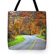 West Virginia Curves Tote Bag