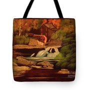 West Virginia Grist Mill Tote Bag