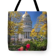 West Virginia State Capitol Colors Of Spring Tote Bag