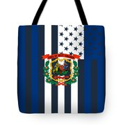 West Virginia State Flag Graphic Usa Styling Tote Bag