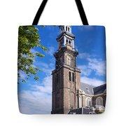 Westerkerk Tower And Church. Amsterdam. Netherlands. Europe Tote Bag