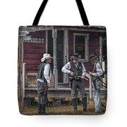 Western Cowboy Re-enactors At 1880 Town Tote Bag