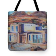 Western Home Illustration Tote Bag