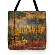 Western Larch Forest Autumn Tote Bag