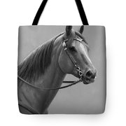 Western Quarter Horse Black And White Tote Bag