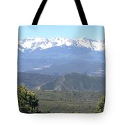 Western Slope Mountains Tote Bag