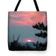 Western Sunset Sun On The Horizon Tote Bag
