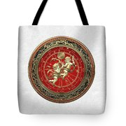 Western Zodiac - Golden Gemini - The Twins On White Leather Tote Bag