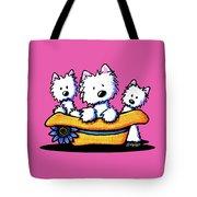 Westie Hat Trio Tote Bag