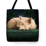 Westie Nap Tote Bag