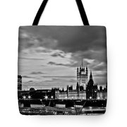 Westminster Black And White Tote Bag