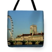 Westminster Bridge And London Eye Tote Bag